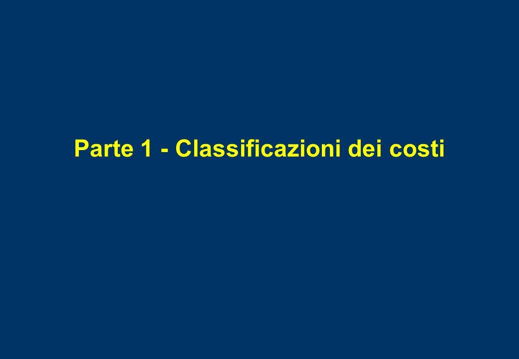 Parte 1 - Classificazioni dei costi