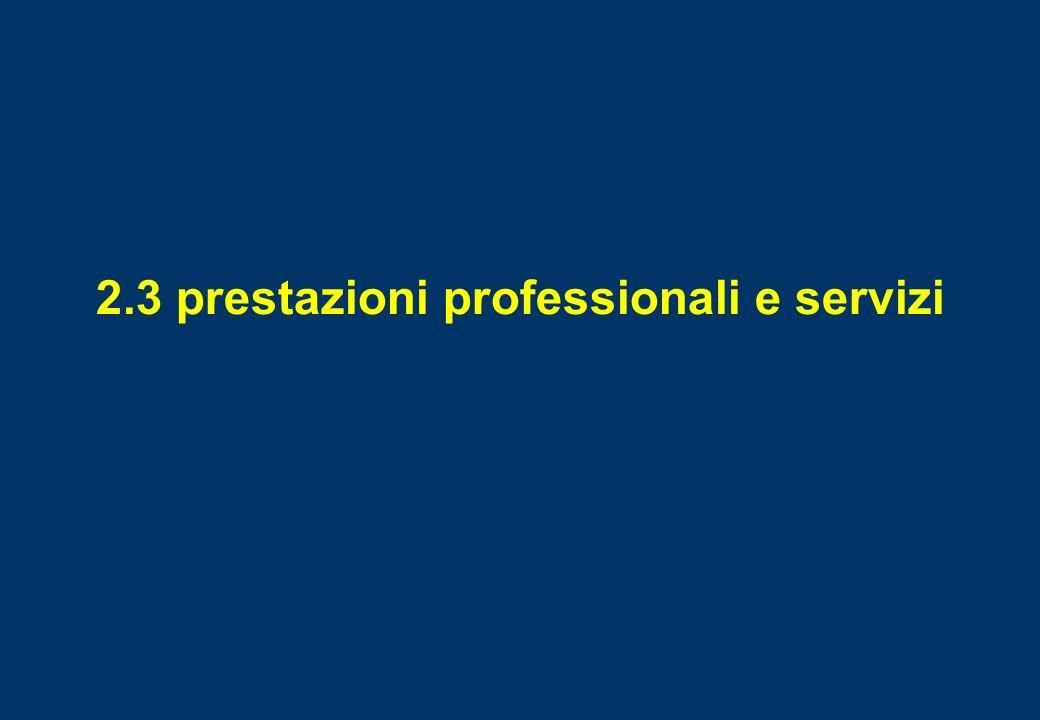 2.3 prestazioni professionali e servizi