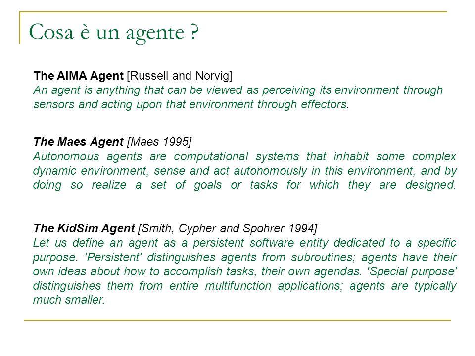 Architetture per Agenti basati sulla logica KGP Le capabilities di un agente KGP permettono allentità di assumere differenti comportamenti nel processo di adattamento allambiente.