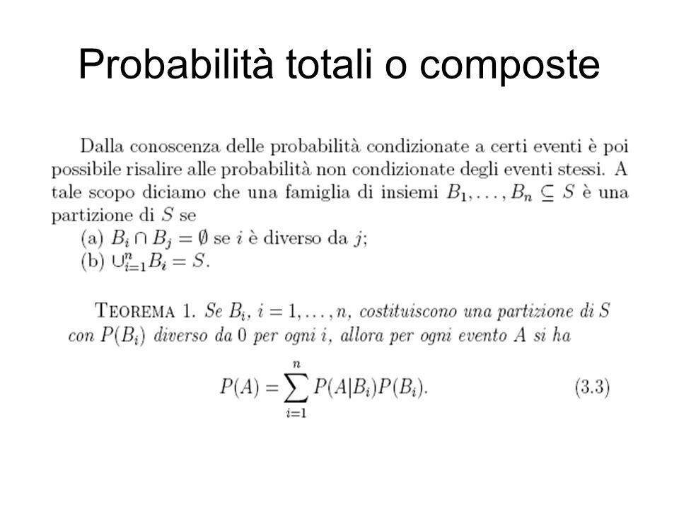 Probabilità totali o composte