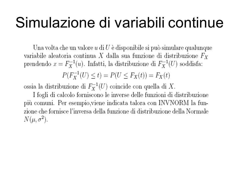 Simulazione di variabili continue