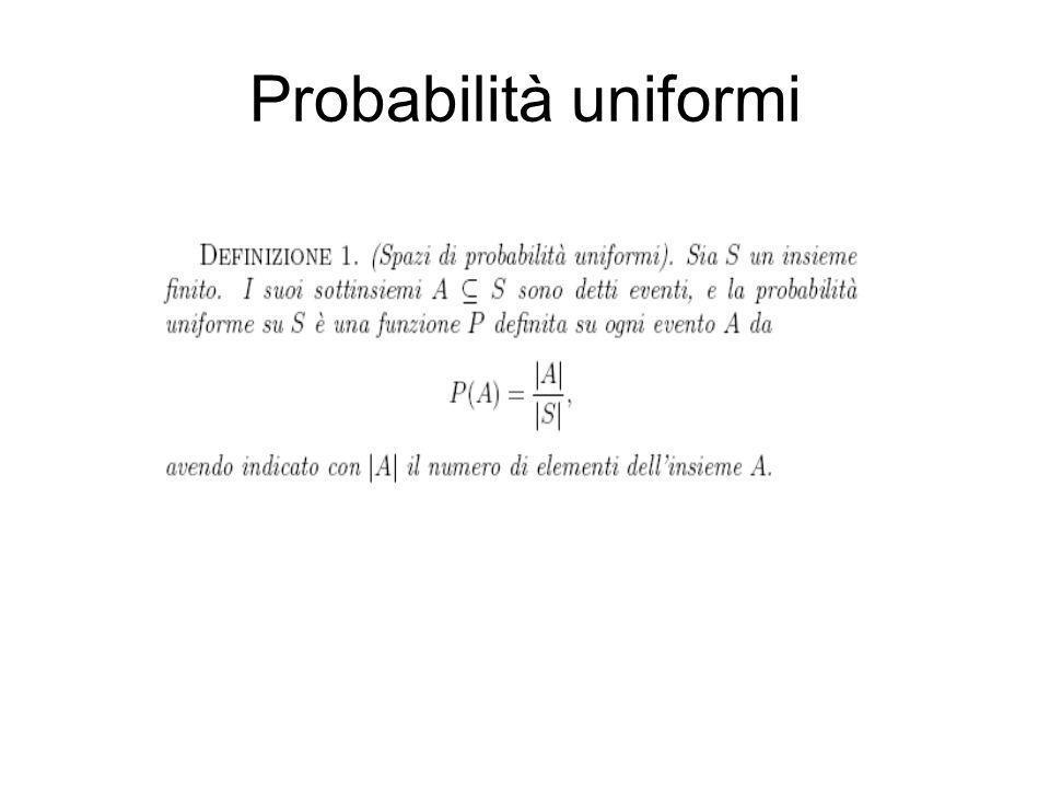 Probabilità uniformi