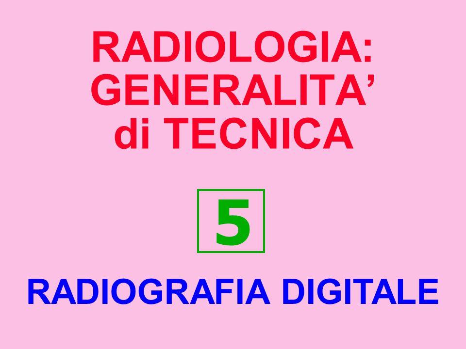 RADIOLOGIA: GENERALITA di TECNICA 5 RADIOGRAFIA DIGITALE