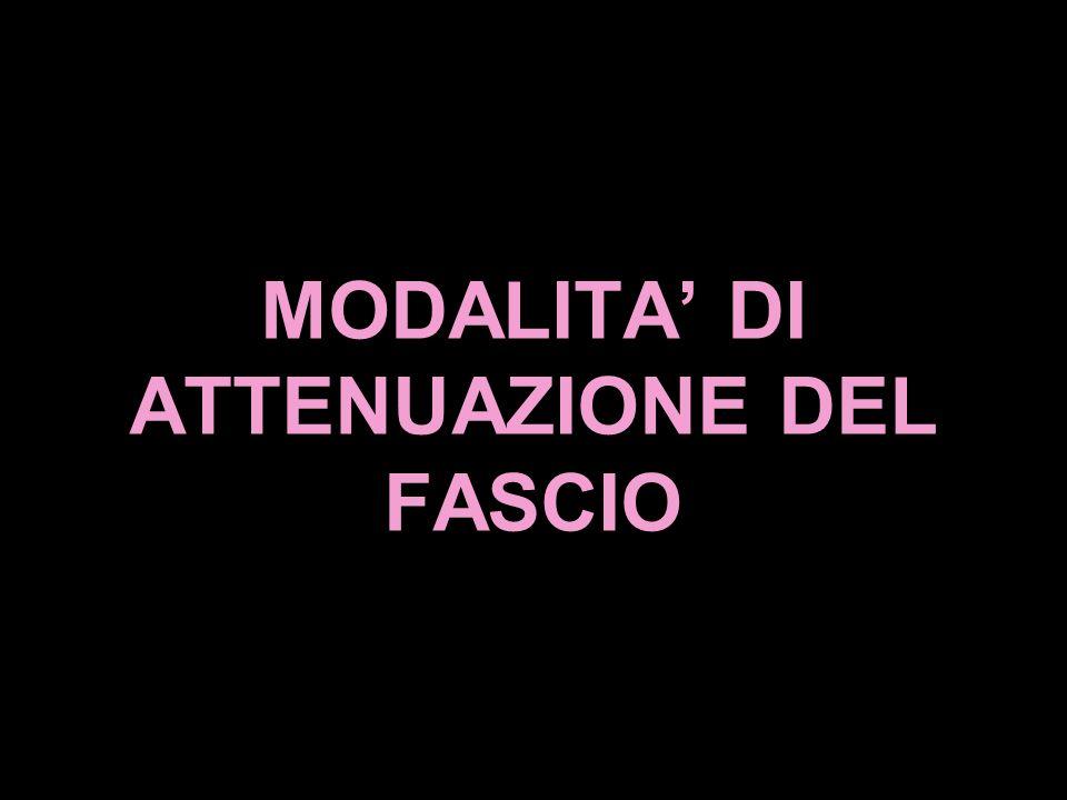 MODALITA DI ATTENUAZIONE DEL FASCIO