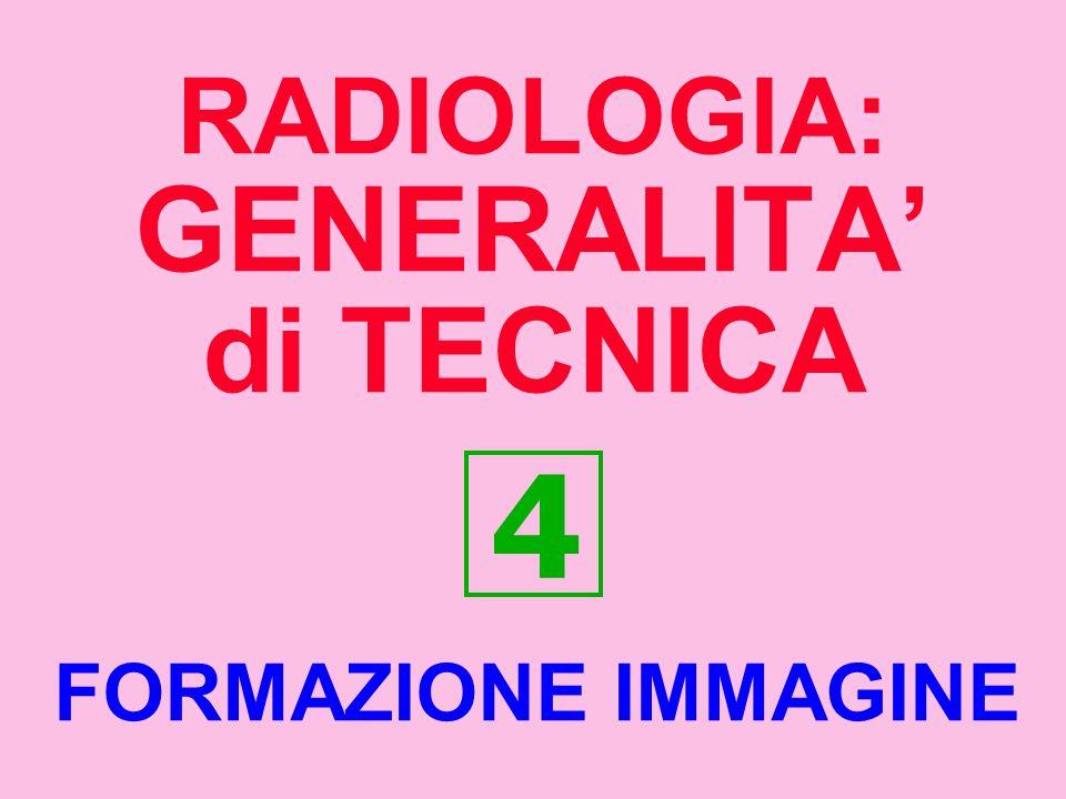 RADIOLOGIA: GENERALITA di TECNICA 4 FORMAZIONE IMMAGINE
