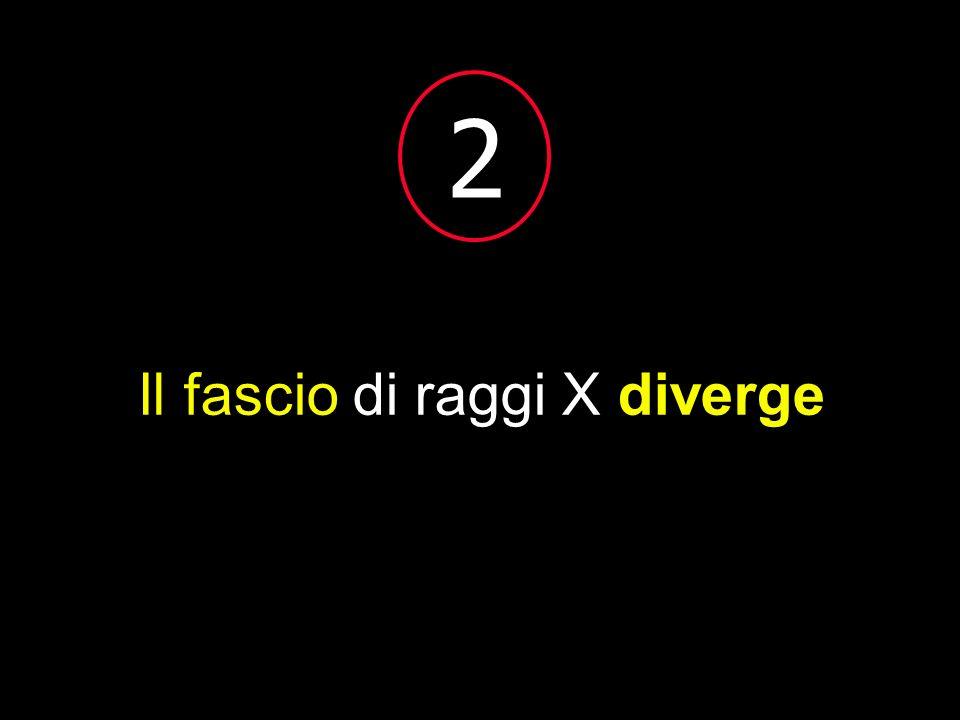 2 Il fascio di raggi X diverge