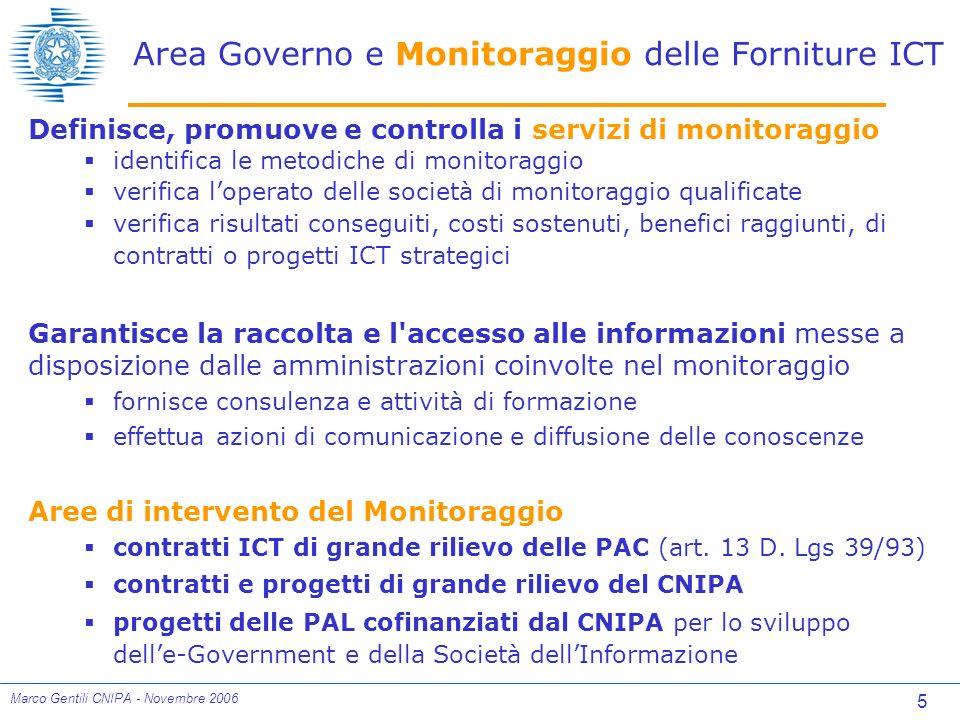 6 Marco Gentili CNIPA - Novembre 2006 Un modello di governance dellICT in ambito pubblico
