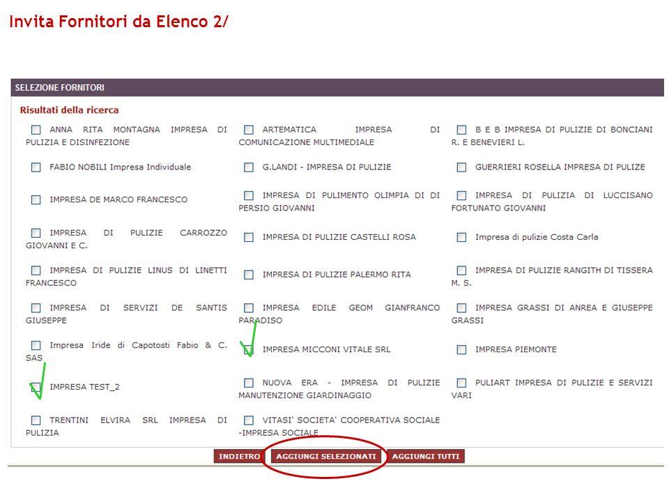 Invita Fornitori da Elenco 2/
