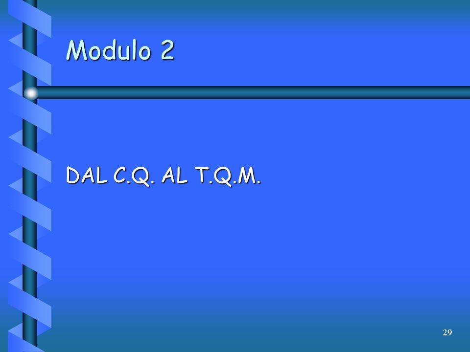 29 Modulo 2 DAL C.Q. AL T.Q.M.