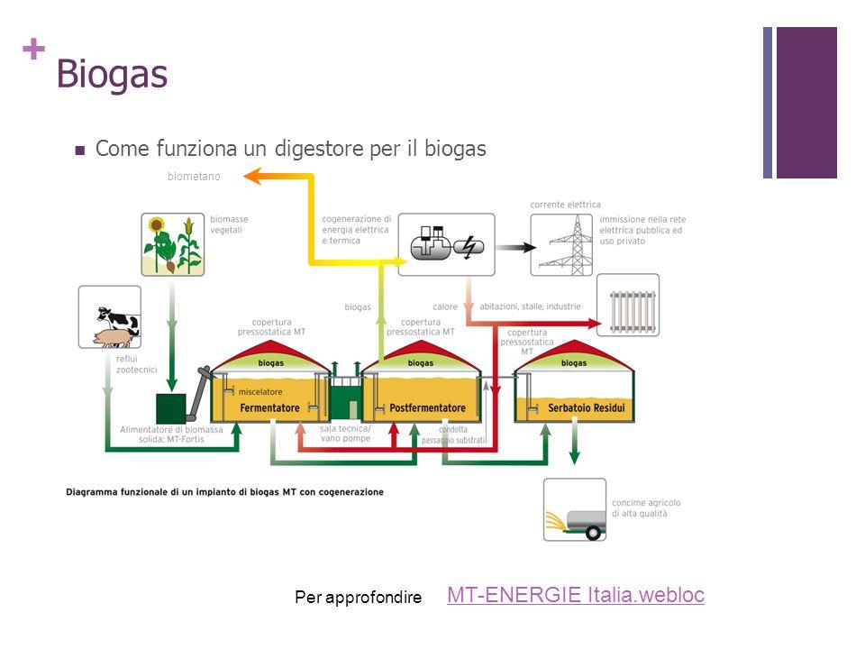+ Biogas Come funziona un digestore per il biogas MT-ENERGIE Italia.webloc Per approfondire biometano