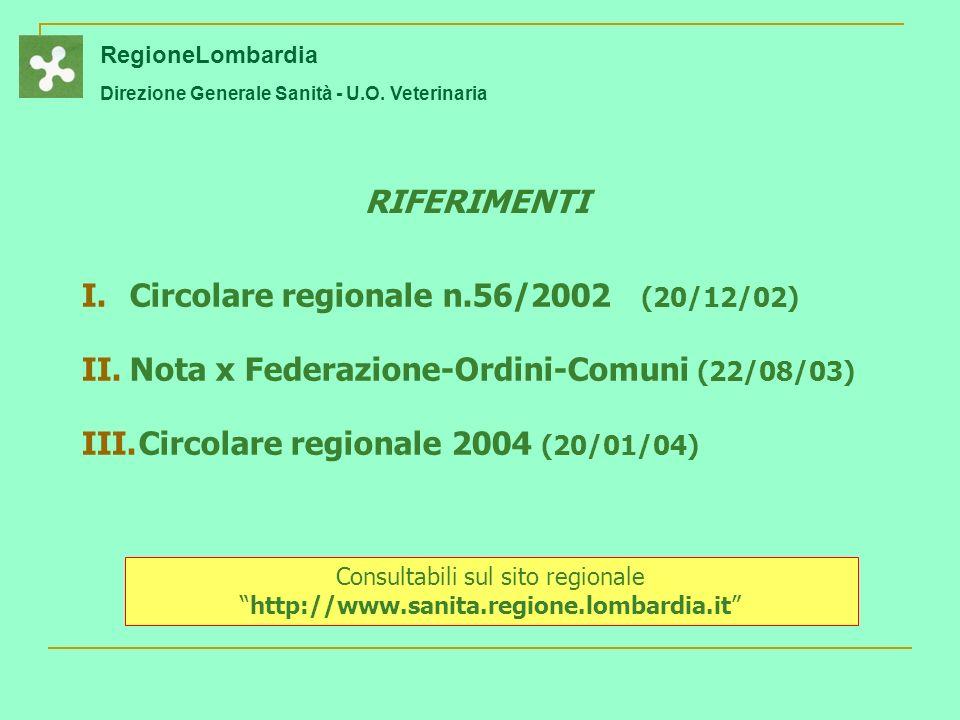RegioneLombardia Direzione Generale Sanità - U.O.
