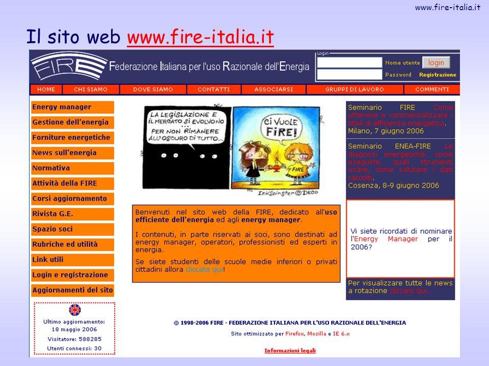 www.fire-italia.it 3 Il sito web www.fire-italia.itwww.fire-italia.it