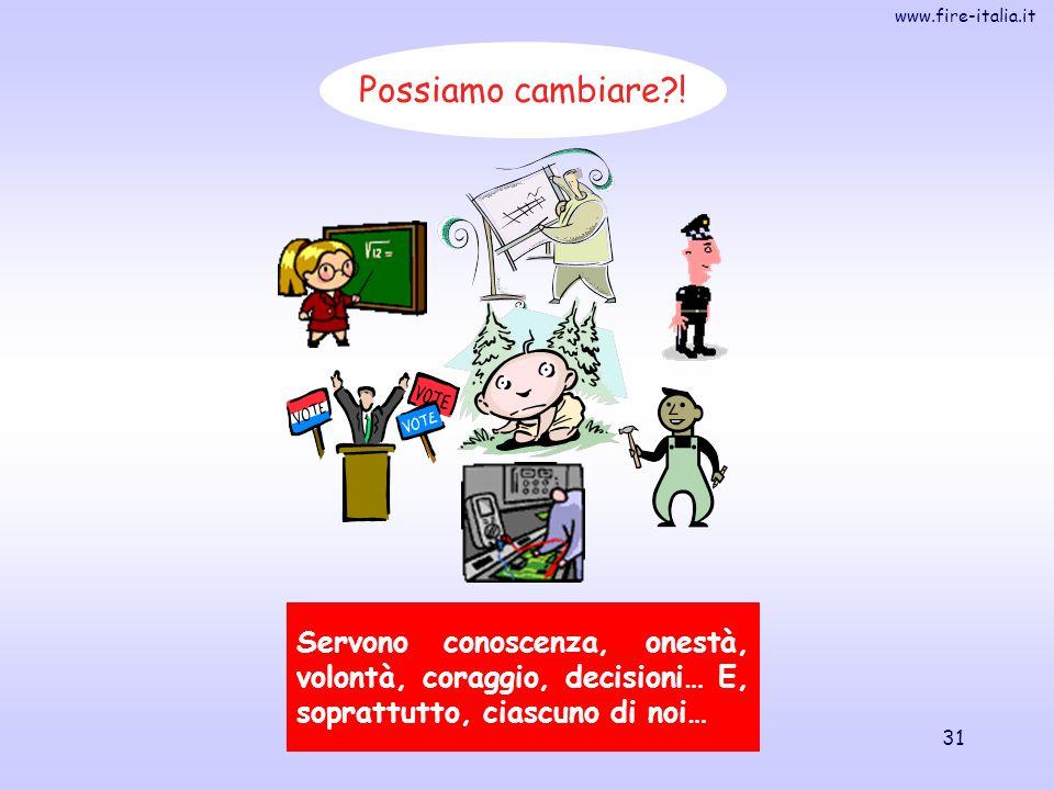 www.fire-italia.it 31 Possiamo cambiare?! Servono conoscenza, onestà, volontà, coraggio, decisioni… E, soprattutto, ciascuno di noi… E il momento di u