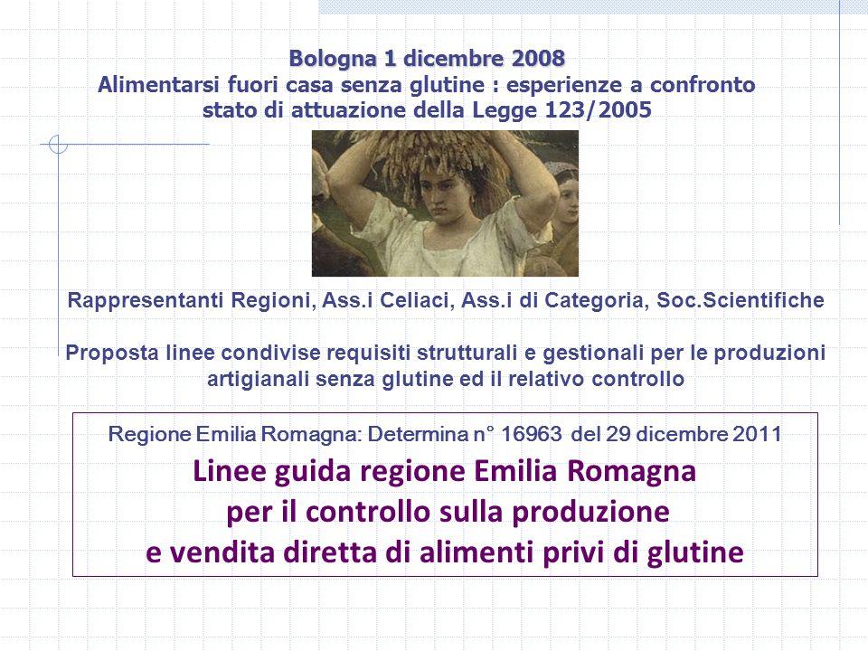 Bologna 1 dicembre 2008 Bologna 1 dicembre 2008 Alimentarsi fuori casa senza glutine : esperienze a confronto stato di attuazione della Legge 123/2005