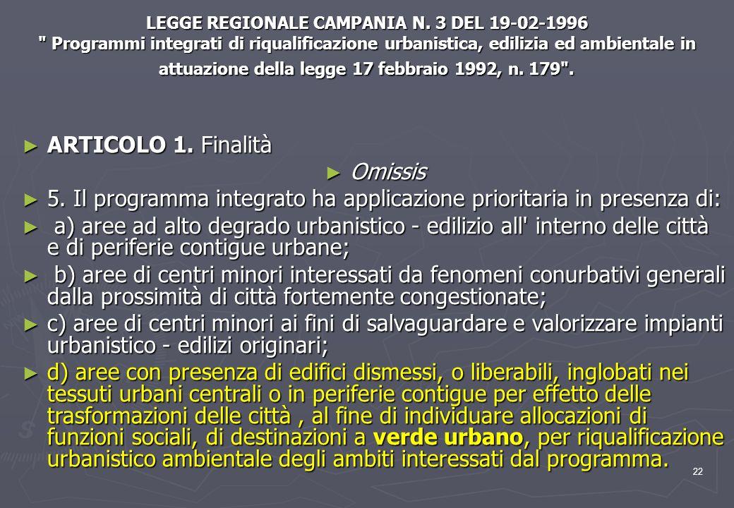 22 LEGGE REGIONALE CAMPANIA N. 3 DEL 19-02-1996
