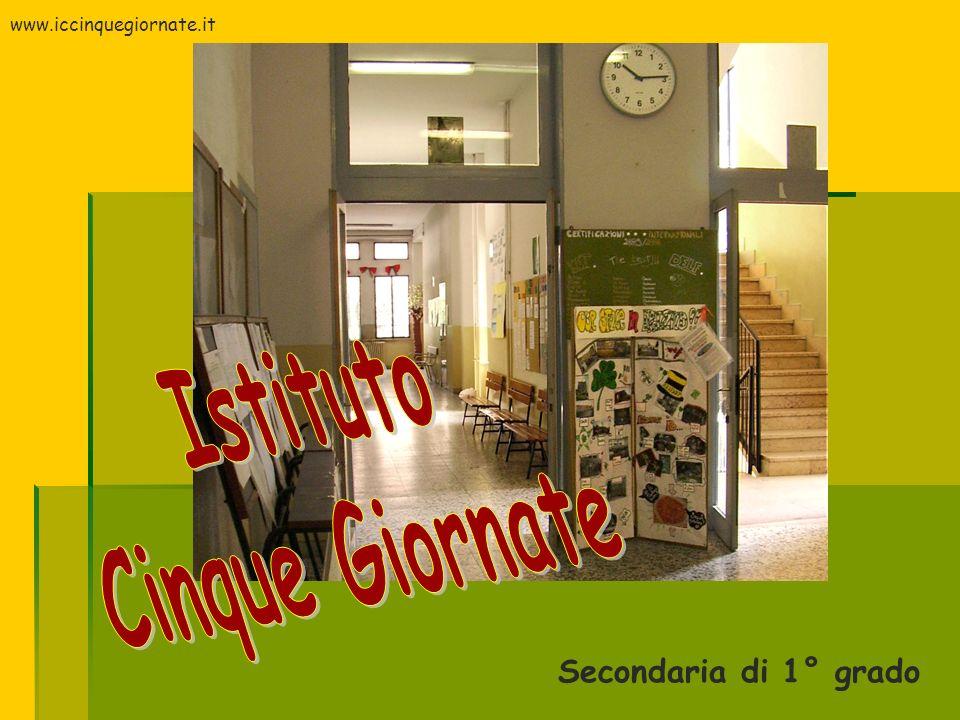 Secondaria di 1° grado www.iccinquegiornate.it