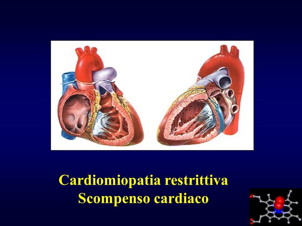 Cardiomiopatia restrittiva Scompenso cardiaco