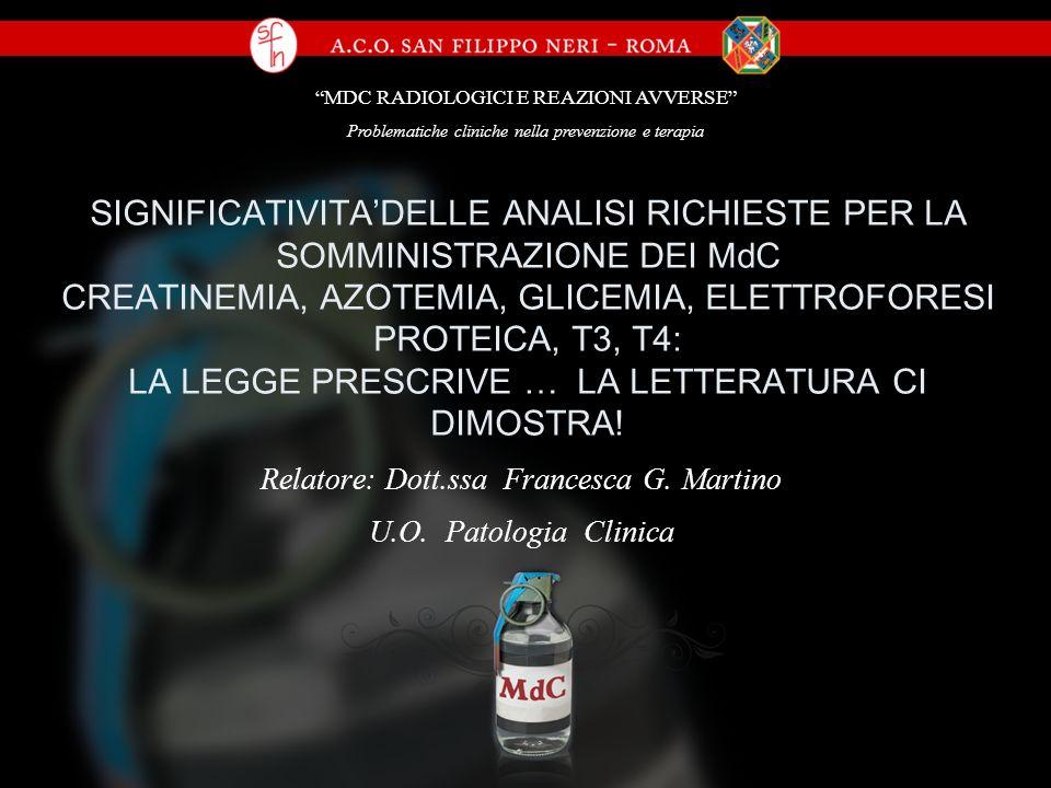4) Da queste osservazioni la Societa Italiana di Radiologia Medica (SIRM) nel 2000 e nel 2004, riportando la citata nota ministeriale, pubblicava un documento volto ad illustrare i principi basilari da conoscersi da parte degli utilizzatori di MdC.