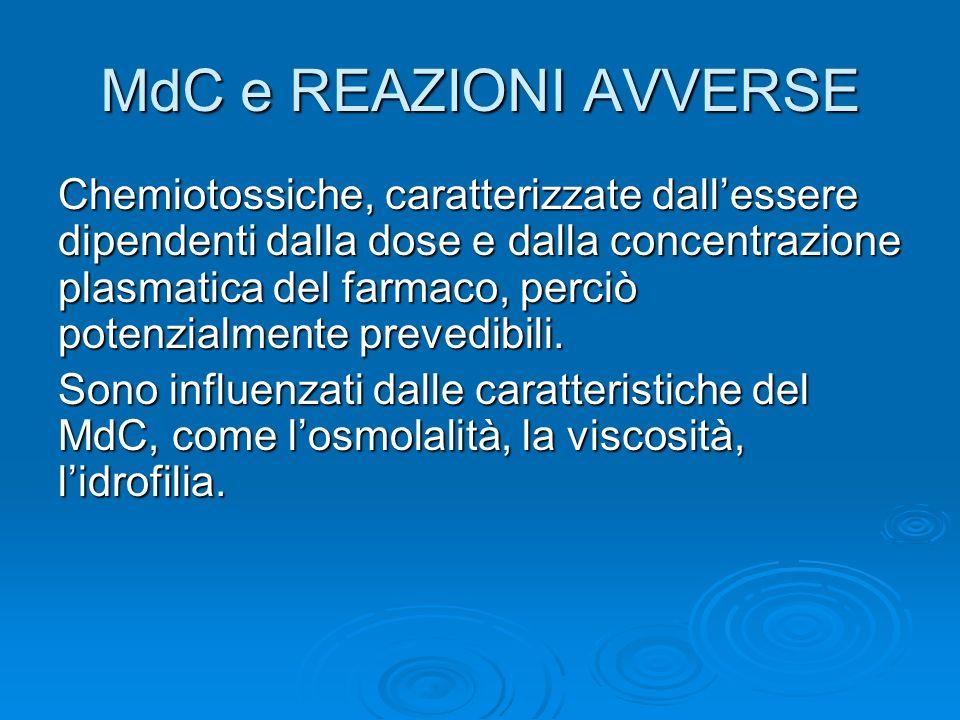 FATTORI DI RISCHIO CORRELATI AL MdC I MdC disponibili commercialmente sono dei derivati triiodati del benzene.