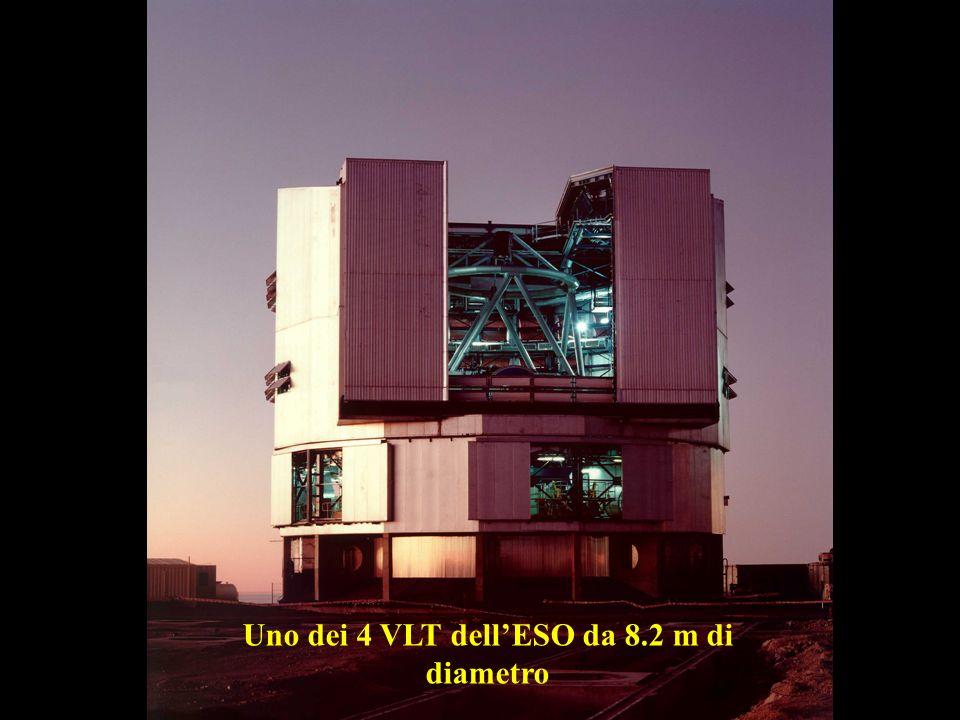 Uno dei 4 VLT dellESO da 8.2 m di diametro