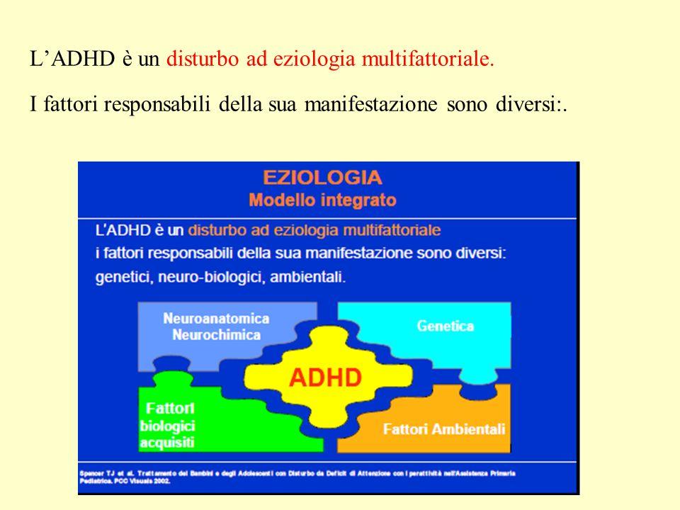 LADHD è un disturbo ad eziologia multifattoriale. I fattori responsabili della sua manifestazione sono diversi:.