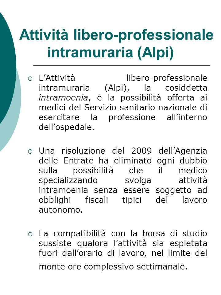 Attività libero-professionale intramuraria (Alpi) LAttività libero-professionale intramuraria (Alpi), la cosiddetta intramoenia, è la possibilità offe