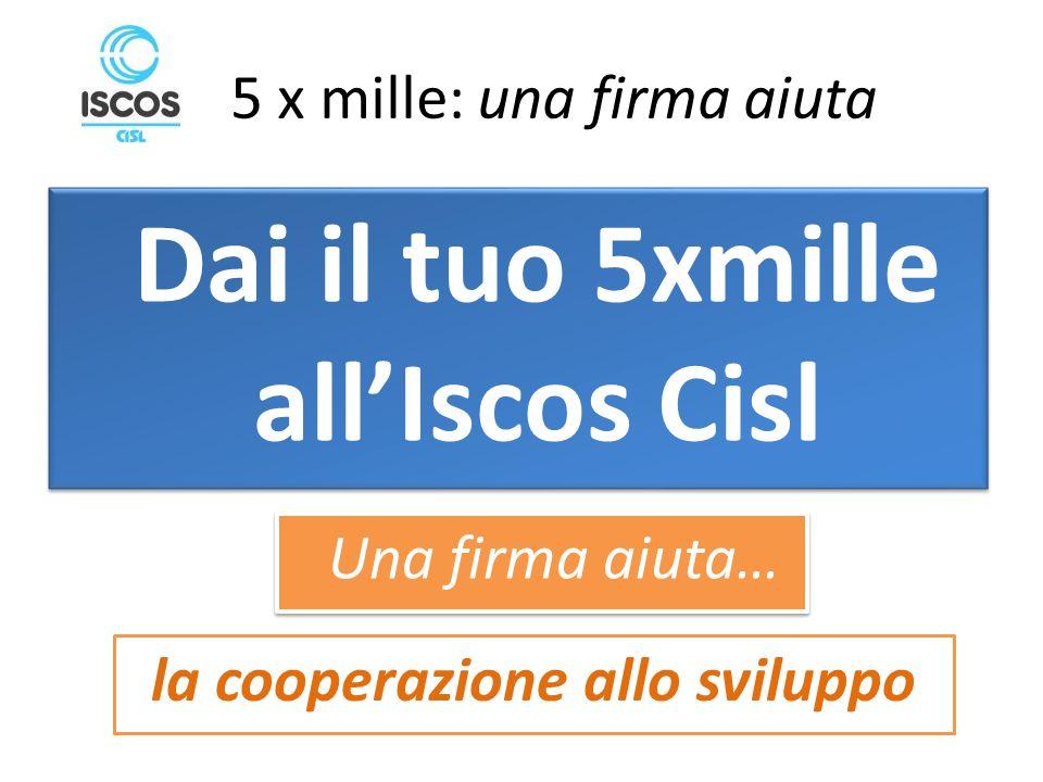 5 x mille: una firma aiuta la cooperazione allo sviluppo