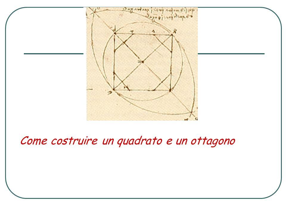Come costruire un quadrato e un ottagono