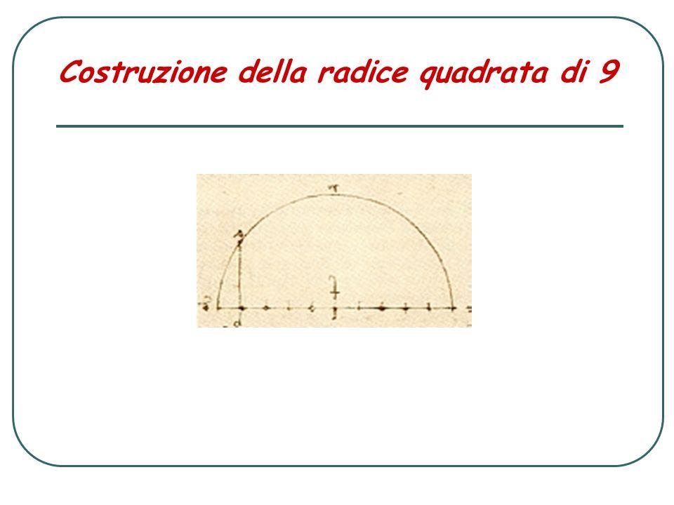 Costruzione della radice quadrata di 9