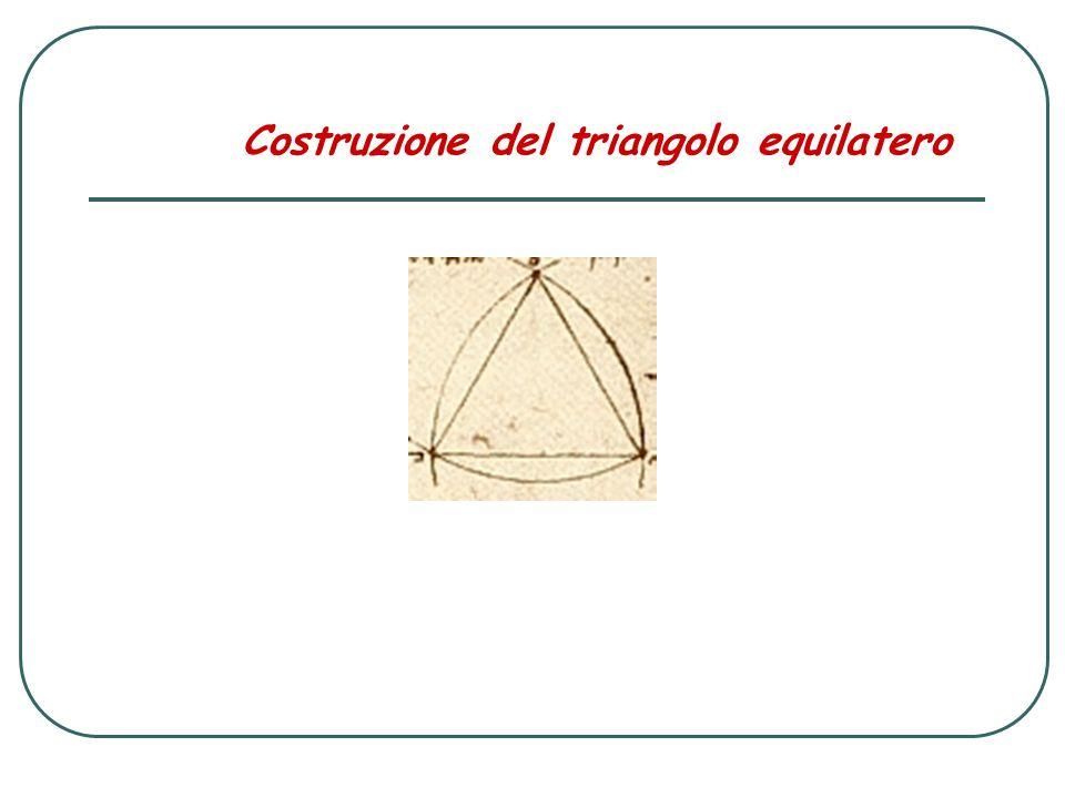 Costruzione del triangolo equilatero