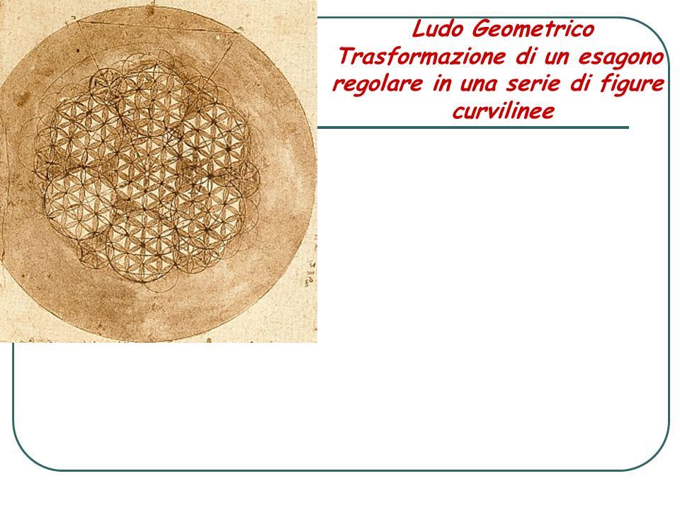 Ludo Geometrico Trasformazione di un esagono regolare in una serie di figure curvilinee