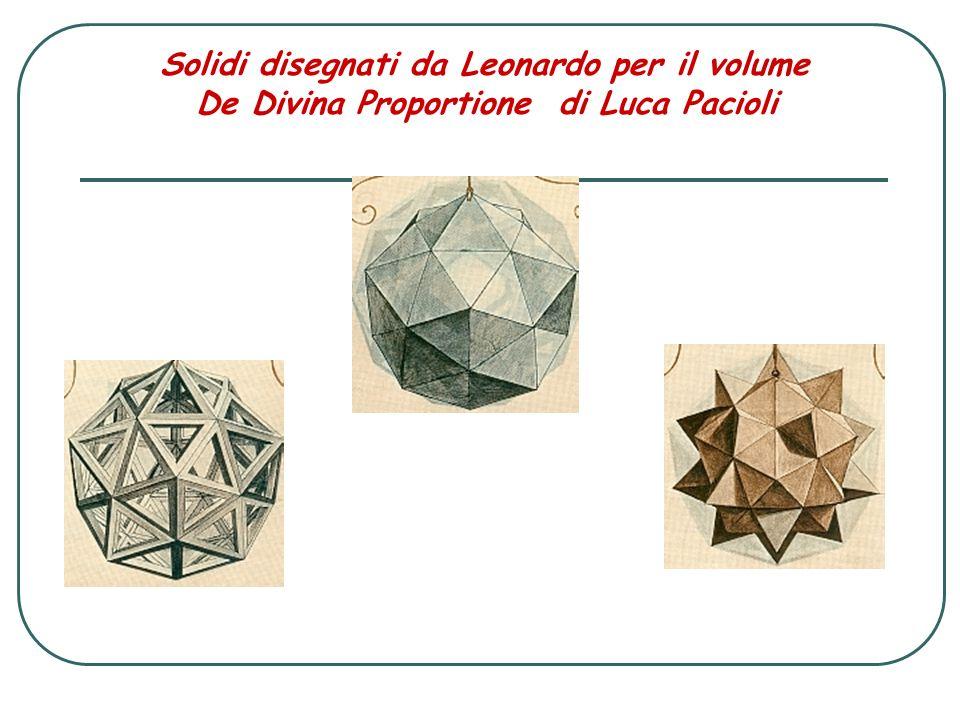 Solidi disegnati da Leonardo per il volume De Divina Proportione di Luca Pacioli