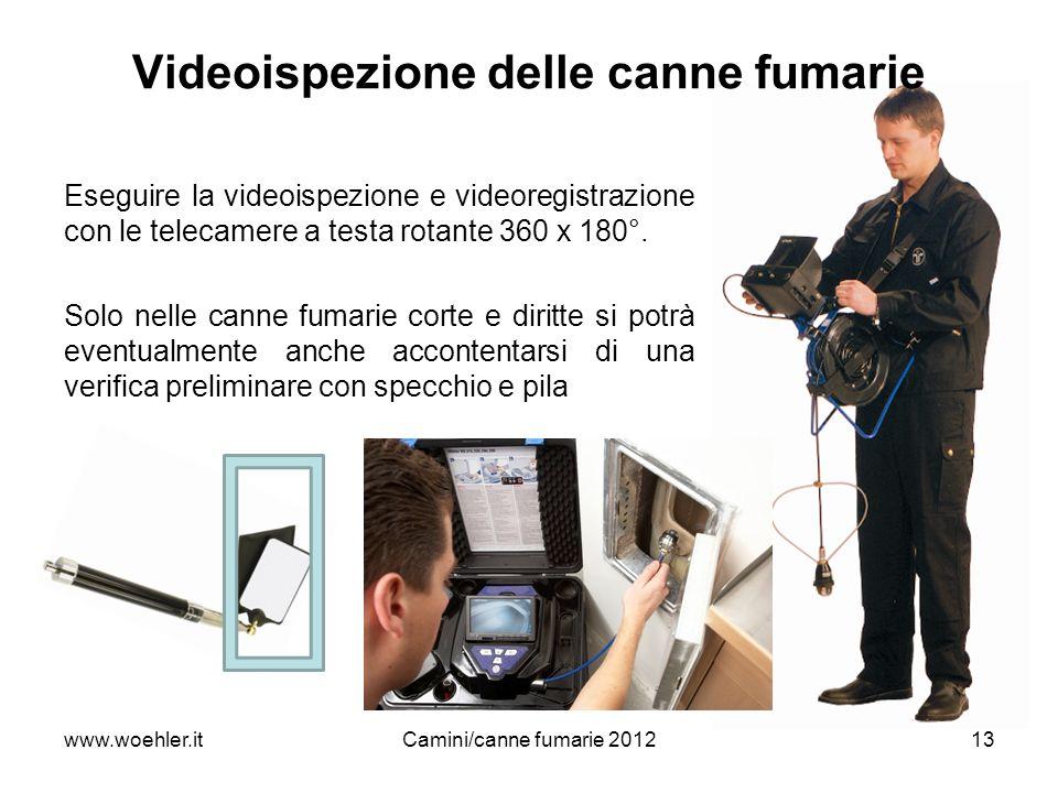 www.woehler.itCamini/canne fumarie 201213 Eseguire la videoispezione e videoregistrazione con le telecamere a testa rotante 360 x 180°. Solo nelle can