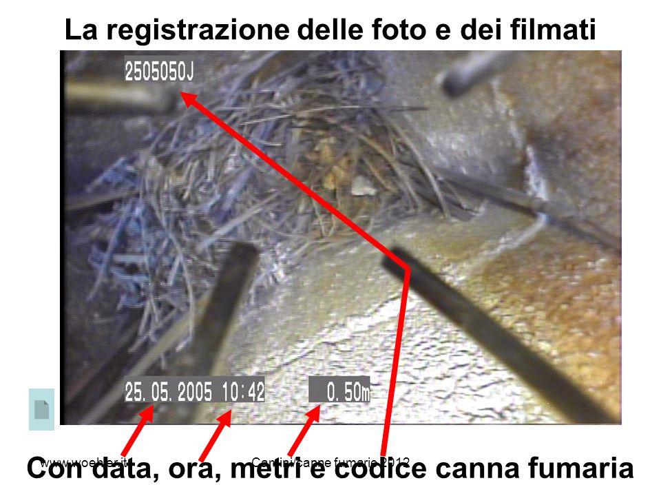 18 La registrazione delle foto e dei filmati Con data, ora, metri e codice canna fumaria www.woehler.itCamini/canne fumarie 2012