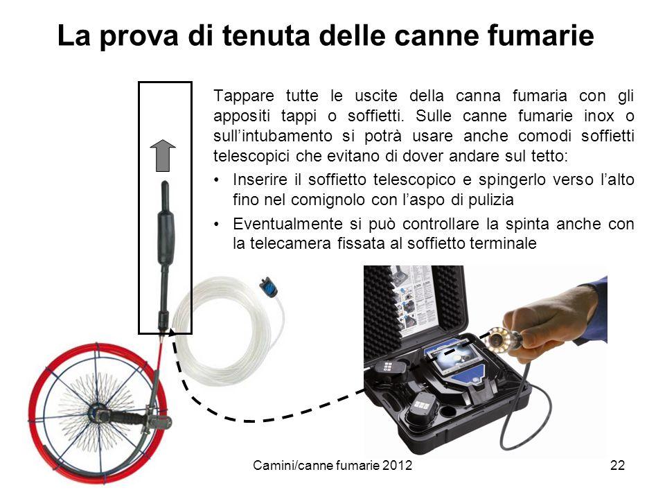 www.woehler.itCamini/canne fumarie 201222 La prova di tenuta delle canne fumarie Tappare tutte le uscite della canna fumaria con gli appositi tappi o
