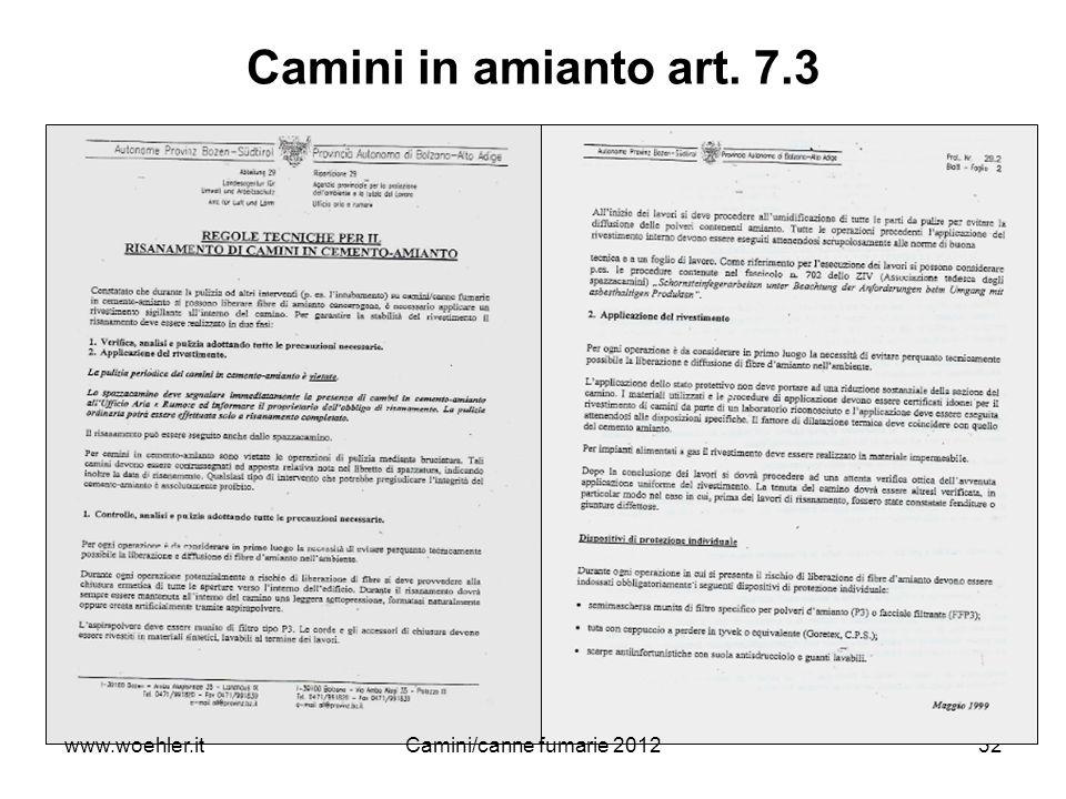 32 Camini in amianto art. 7.3 www.woehler.itCamini/canne fumarie 2012