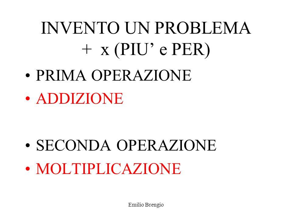 Emilio Brengio INDICE ADD E MOLT MOLT E ADD (non presente) SOTT E DIV(non presente) Esempio ridotto, in quello completo i problemi sono 4.