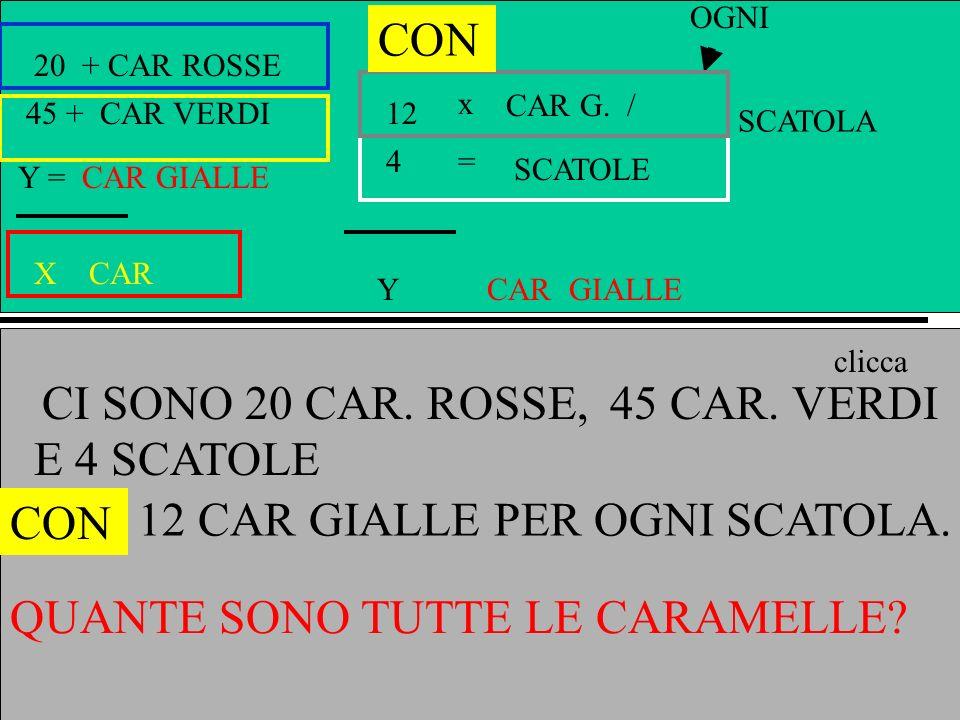 Emilio Brengio A + CAR ROSSE B + CAR VERDI Y = CAR GIALLE X CAR x = Y GIALLE CAR G.