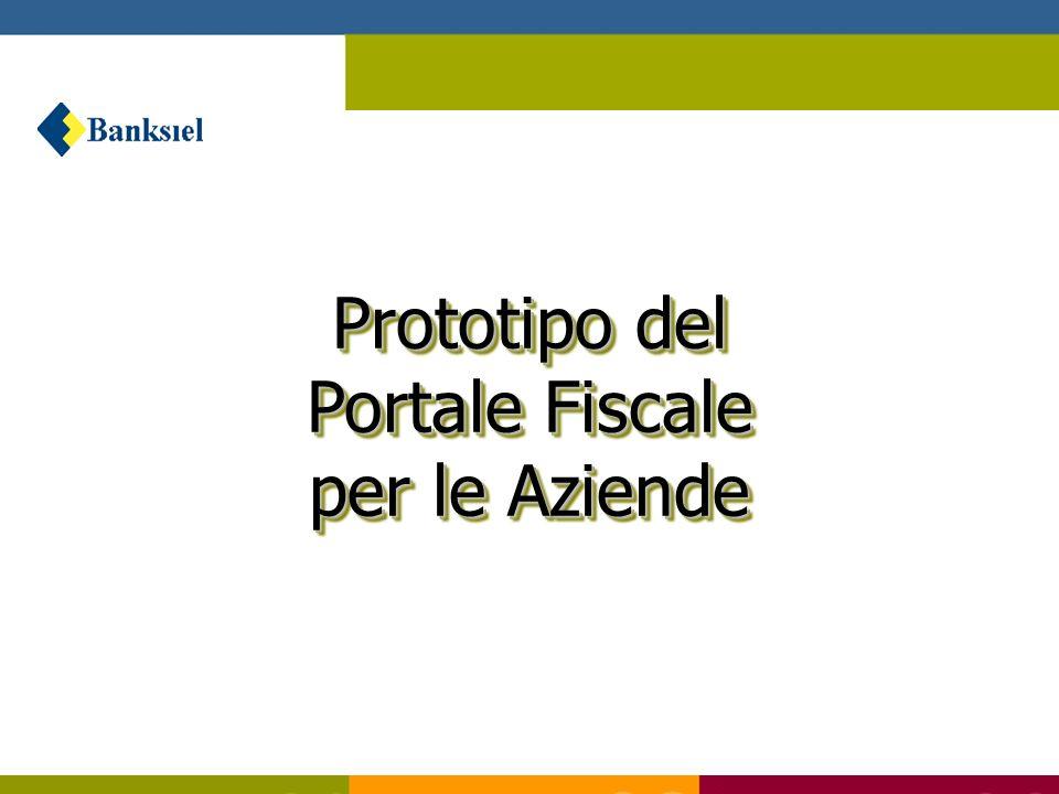 Prototipo del Portale Fiscale per le Aziende