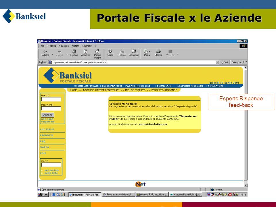 Esperto Risponde feed-back Portale Fiscale x le Aziende