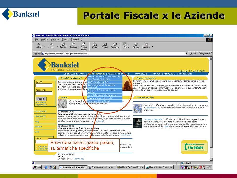 Registrazione utente, conferma dati Portale Fiscale x le Aziende