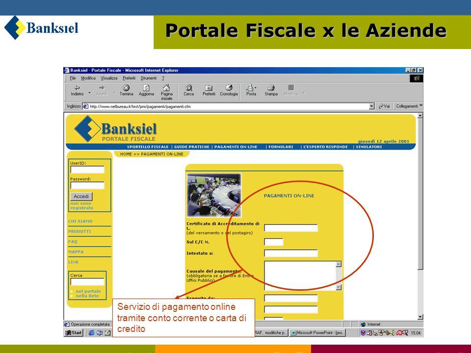 Riepilogo dati inseriti Portale Fiscale x le Aziende