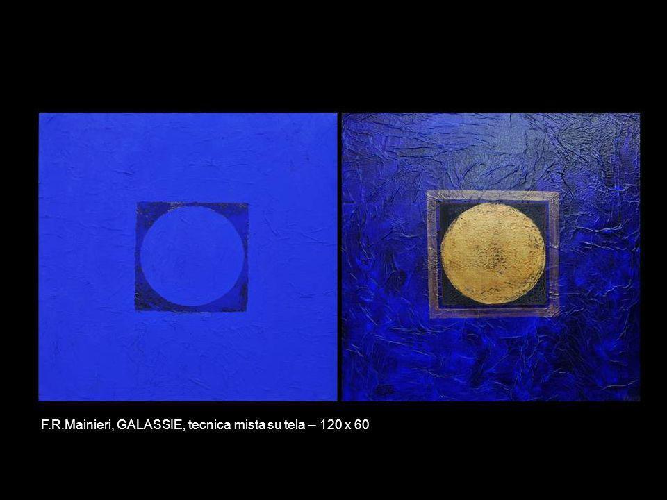 F.R.Mainieri, GALASSIE, tecnica mista su tela – 120 x 60