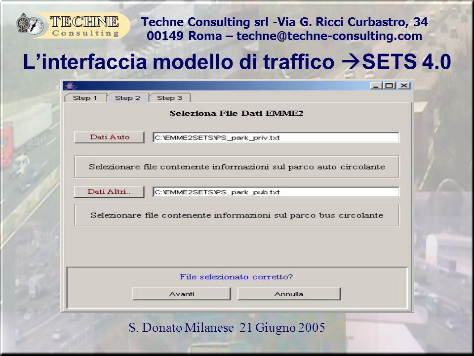 Techne Consulting srl -Via G. Ricci Curbastro, 34 00149 Roma – techne@techne-consulting.com S. Donato Milanese 21 Giugno 2005 Linterfaccia modello di