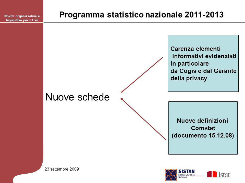 23 settembre 2009 Processi di produzione di informazioni statistiche basato sul trattamento di dati statistici provenienti da processi di tipo A e/o B.