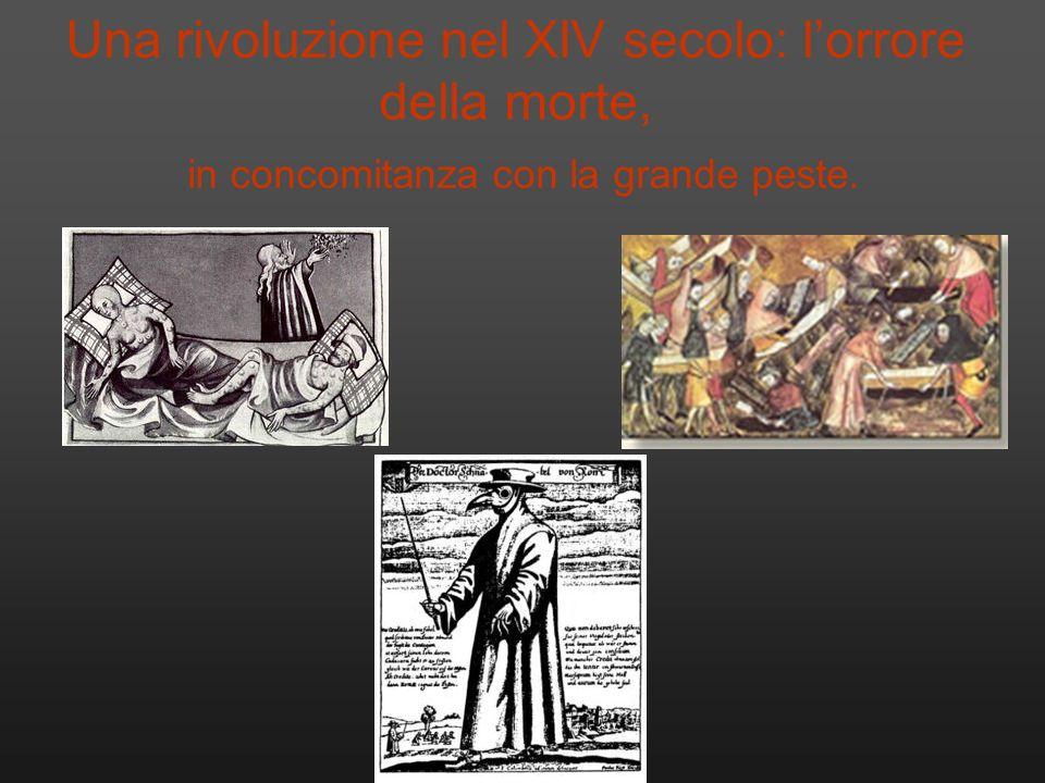 Una rivoluzione nel XIV secolo: lorrore della morte, in concomitanza con la grande peste.