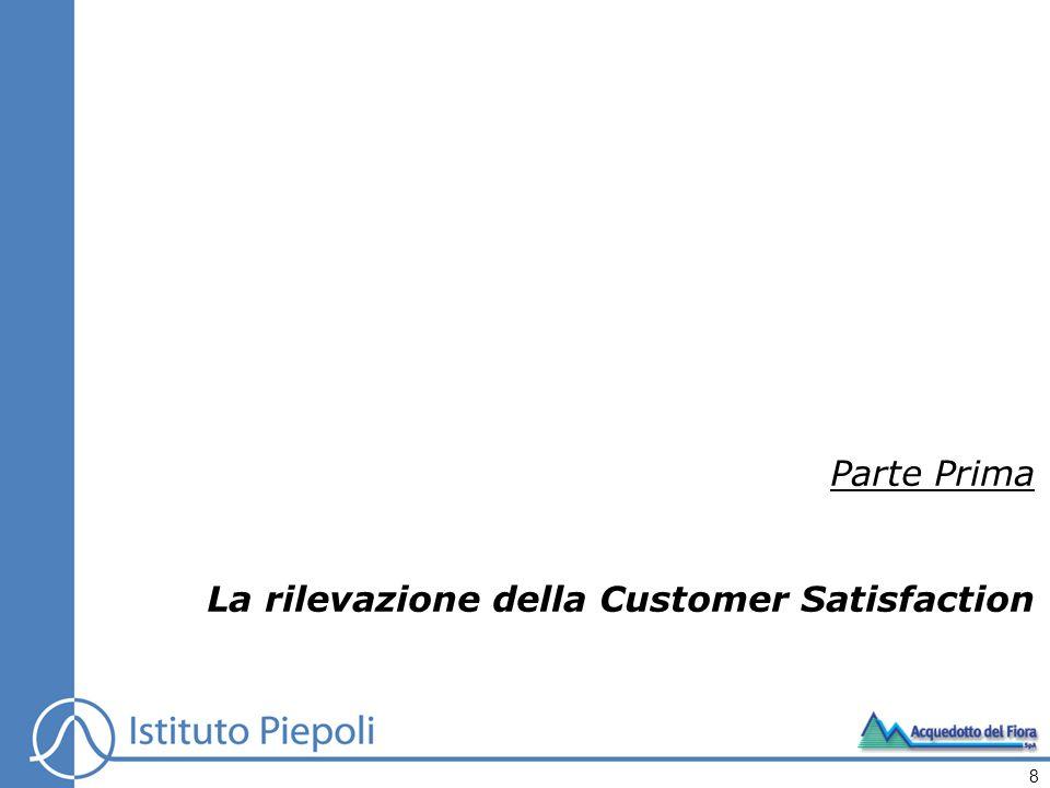 Parte Prima La rilevazione della Customer Satisfaction 8