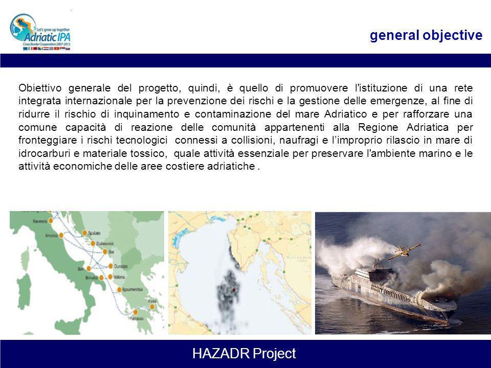 HAZADR Project le sfide Lo sviluppo del presente progetto prende spunto, nel 2008 dallincidente occorso alla nave turca «UND ADRIYATIK» nellarea dellA