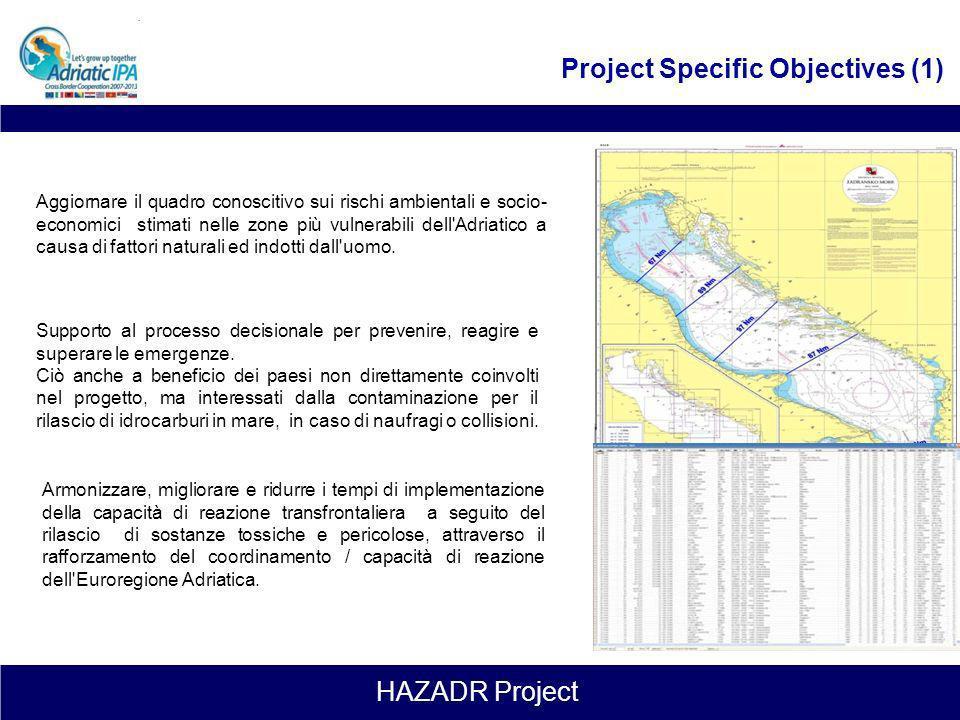 HAZADR Project general objective Obiettivo generale del progetto, quindi, è quello di promuovere l'istituzione di una rete integrata internazionale pe
