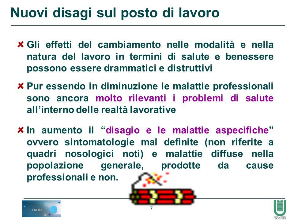 38 Job Content Questionnaire (Karasek 1985): una delle scale di valutazione più utilizzate anche in Italia per via della validazione della versione italiana.